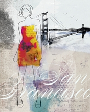 City Girl San Francisco Canvas Wall Art