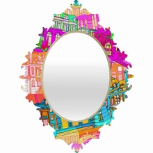 City Scape Baroque Mirror