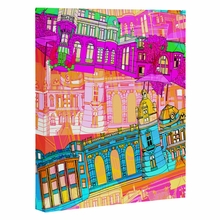 City Scape Wrapped Canvas Art