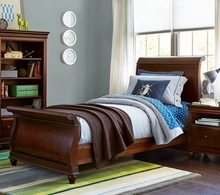 Martin Cherry Sleigh Bed