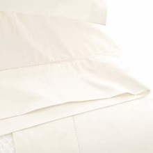 Classic Hemstitch Ivory King Pillow Case Pair