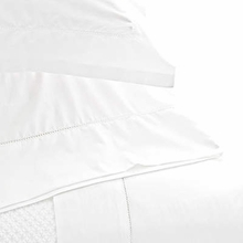 Classic Hemstitch White King Pillow Case Pair