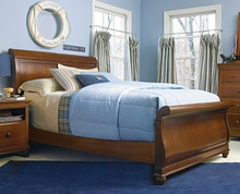 Henry Brown Sleigh Bed
