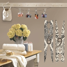 Clothes Pins Wall Decals