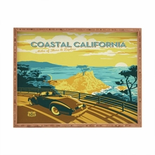 Coastal California Rectangular Tray