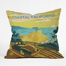 Coastal California Throw Pillow