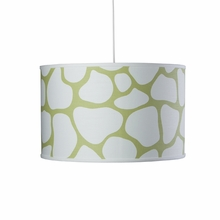 Cobblestone Large Cylinder Pendant Light in Green
