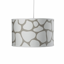 Cobblestone Large Cylinder Pendant Light in Taupe