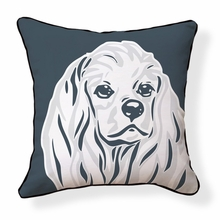 Cocker Spaniel Reversible Throw Pillow