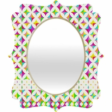 Color Block Quatrefoil Mirror