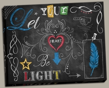 Color Chalkboard 4 Canvas Wall Art