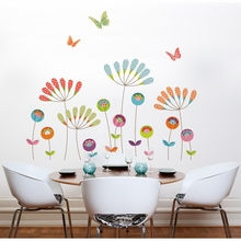 Colorful Pompoms Transfer Wall Decals