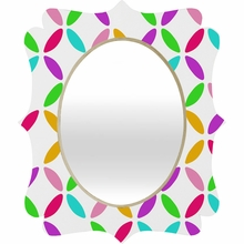 Colour Block Quatrefoil Mirror