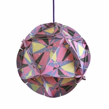 Como Dot Paper Pendant in Pink