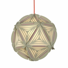 Como Paper Pendant in Light Gray