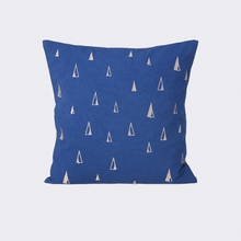 Cone Throw Pillow in Blue