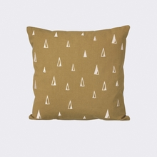 Cone Throw Pillow in Curry