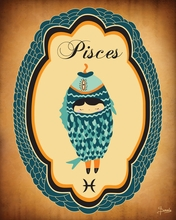 Constellation of Pisces Canvas Wall Art