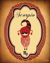 Constellation of Scorpio Canvas Wall Art