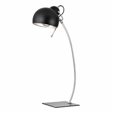 Contemporary Arc Desk Lamp In Black And Polished Nickel