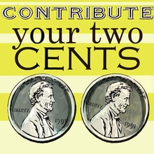 Contribute Your Two Cents Canvas Art