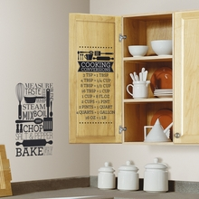 Cooking Conversions Wall Decals