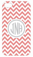 Coral Chevron iPhone Case