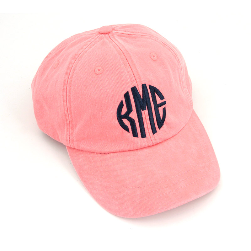 cheap monogram baseball hat monogrammed patch cap caps coral