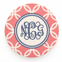 Coral Rings Monogram Coaster Set