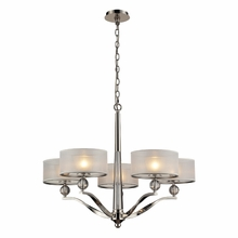 Corisande Chandelier In Polished Nickel