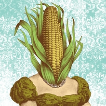 Corn Lady Canvas Wall Art