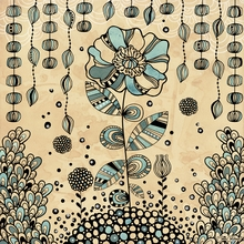 Cosmic Garden Eden Canvas Wall Art