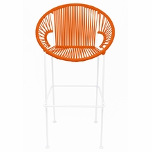 Counter Height Puerto Stool - Orange Weave