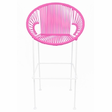 Counter Height Puerto Stool - Pink Weave