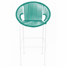 Counter Height Puerto Stool - Turquoise Weave