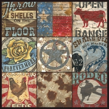 Cowboy Collage II Canvas Wall Art
