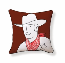 Cowboy Reversible Throw Pillow