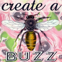 Create a Buzz Pink Canvas Art
