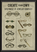 Create Your Own Spectacle and Jewelry Company Framed Wall Art