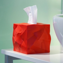 Crinkle Tissue Box in Red