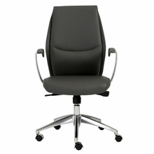 Crosby Low Back Office Chair in Gray and Aluminum