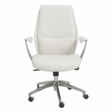 Crosby Low Back Office Chair in White and Aluminum