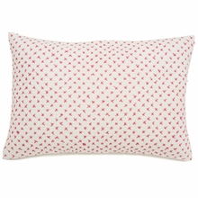 Cross Stitch Decorative Pillow Sham in Pink