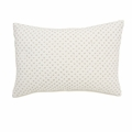 Cross Stitch Quilted Decorative Pillow Cover in Grey
