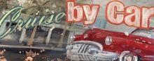 Cruise by Car Canvas wall Art