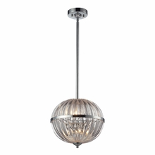 Crystal Globe Pendant In Polished Chrome