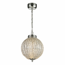 Crystal Sphere Led Pendant In Polished Chrome
