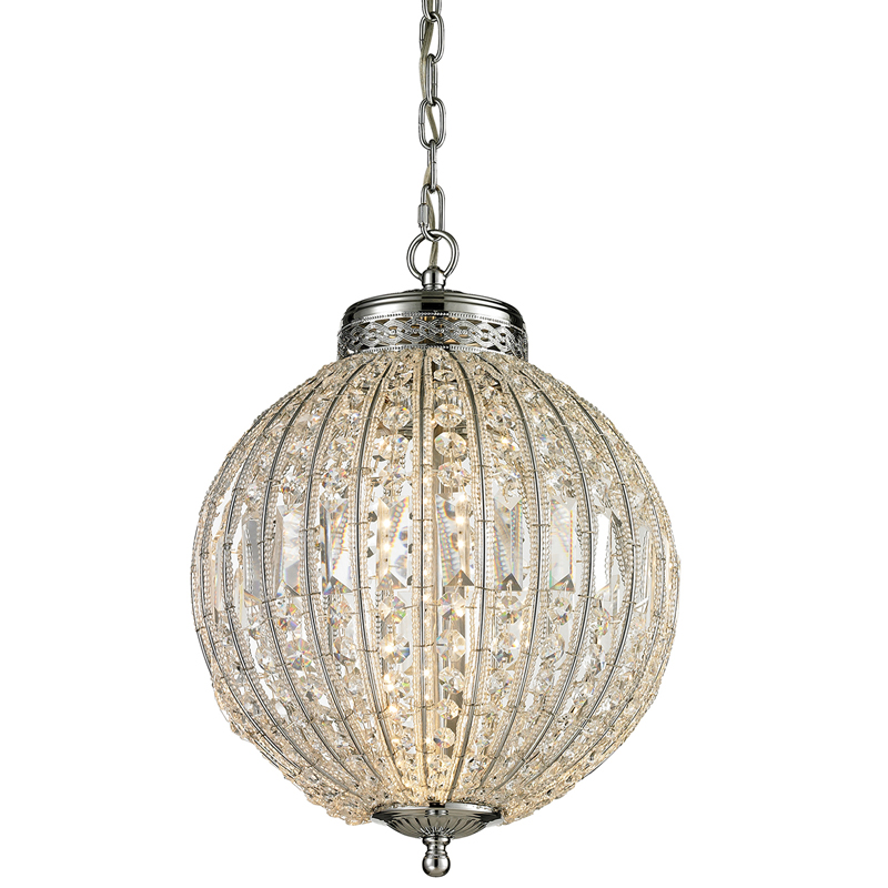 district17 sphere led pendant in polished chrome