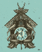 Cuckoo Clock Canvas Wall Art