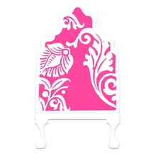 Curvy Cutout Magenta Headboard Wall Decal for Twin Bed